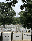 Washington Monument And Arlington Cemetery