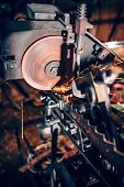 Metalworking Industry, Circular Saw With Sparks, Circular Disc poster
