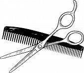 Barber tools drawing