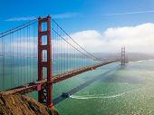 Bridge Golden Gate at San Francisco day time landscape poster