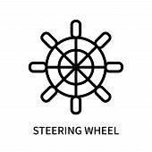 Steering Wheel Icon Isolated On White Background. Steering Wheel Icon Simple Sign. Steering Wheel Ic poster