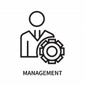 Management Icon Isolated On White Background. Management Icon Simple Sign. Management Icon Trendy An poster
