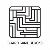 Board Game Blocks Icon Isolated On White Background. Board Game Blocks Icon Simple Sign. Board Game  poster