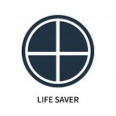 Life Saver Icon Isolated On White Background. Life Saver Icon Simple Sign. Life Saver Icon Trendy An poster