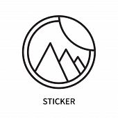 Sticker Icon Isolated On White Background. Sticker Icon Simple Sign. Sticker Icon Trendy And Modern  poster