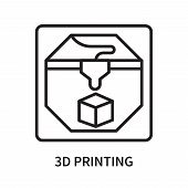 3d Printing Icon Isolated On White Background. 3d Printing Icon Simple Sign. 3d Printing Icon Trendy poster