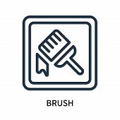 Brush Icon Isolated On White Background. Brush Icon Simple Sign. Brush Icon Trendy And Modern Symbol poster