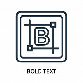 Bold Text Icon Isolated On White Background. Bold Text Icon Simple Sign. Bold Text Icon Trendy And M poster