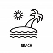 Beach Icon Isolated On White Background. Beach Icon Simple Sign. Beach Icon Trendy And Modern Symbol poster
