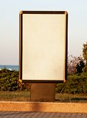 Vertical blank billboard