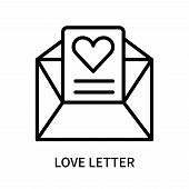 Love Letter Icon Isolated On White Background. Love Letter Icon Simple Sign. Love Letter Icon Trendy poster