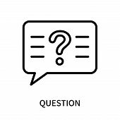 Question Icon Isolated On White Background. Question Icon Simple Sign. Question Icon Trendy And Mode poster