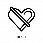 Heart Icon Isolated On White Background. Heart Icon Simple Sign. Heart Icon Trendy And Modern Symbol poster