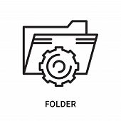 Folder Icon Isolated On White Background. Folder Icon Simple Sign. Folder Icon Trendy And Modern Sym poster