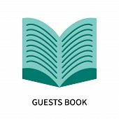 Guests Book Icon Isolated On White Background. Guests Book Icon Simple Sign. Guests Book Icon Trendy poster