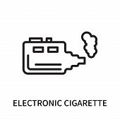 Electronic Cigarette Icon Isolated On White Background. Electronic Cigarette Icon Simple Sign. Elect poster