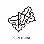 Grape Leaf Icon Isolated On White Background. Grape Leaf Icon Simple Sign. Grape Leaf Icon Trendy An poster
