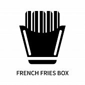 French Fries Box Icon Isolated On White Background. French Fries Box Icon Simple Sign. French Fries  poster