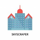 Skyscraper Icon Isolated On White Background. Skyscraper Icon Simple Sign. Skyscraper Icon Trendy An poster