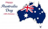 Happy Australia Day Background Or Greeting Card, Festive Vector Illustration, Australia Independence poster