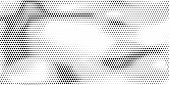 Grange Halftone Texture Of Black And White Dots. Vector Illustration . Minimal Geometric Background. poster