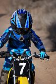 Close-Up Of A Young Motorcross Racer