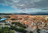 Aerial Panoramic View Majorca Cityscape Townscape And Famous Cathedral Of Palma De Mallorca Or Le Se poster