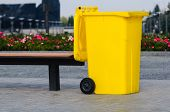 Yellow Recycling Container