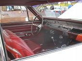 1966 White Chevy Chevelle Ss Interior Side View