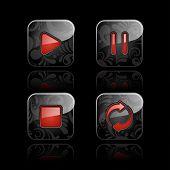 Conjunto de iconos de reproductor de medios