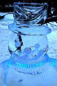ice sculpture of snowman