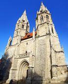 Divi Blasii Kirche in Muehlhausen.
