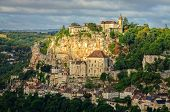Rocamadour Village Wide Landscape View, France