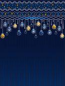 Vector de la tarjeta de Navidad azul