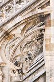 Details van de kathedraal van Milaan