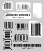 Set Of  Labels With Bar Codes