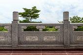 Chinesischer Tempel Terrasse.