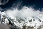 stock photo of cho-cho  - view of cho oyu with beautiful clouds - JPG