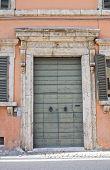 Wooden door. Narni. Umbria. Italy.