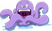 Purple Octopus With Water
