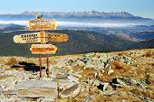 guidepost no Parque Nacional de Tatra