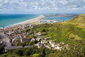 View Portland Chesil beach and Weymouth