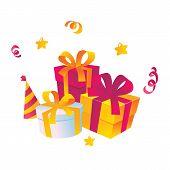 Holiday gifts Vector