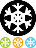 Vector Icon Isolated On White - Snowflake