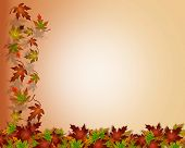 Falling Autumn Leaves Thanksgiving Fall Background