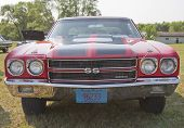 1970 Red Black Chevy Chevelle Ss Low Front View