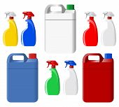Set Of Spray Bottles And Canisters