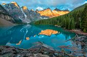 Moraine Lake Yellow Mountain Landscape