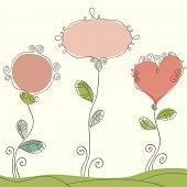 Nice doodle romantic background