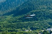 Small Seaplane In Alaska